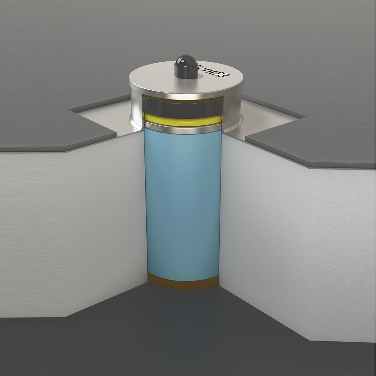 Kontrollstutzen-Eingebaut